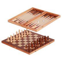 Sakk + Backgammon (közepes)
