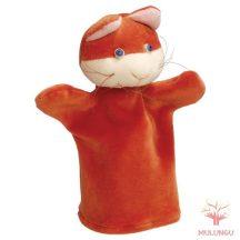 Báb - vörös cica, 3 ujjas, plüss