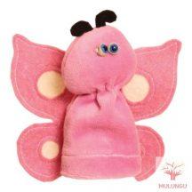 Ujjbáb - rózsaszín pillangó, plüss