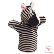 Báb - zebra, 3 ujjas, plüss
