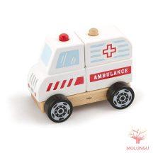 Szétszedhető - mentőautó, kicsi