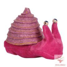 Ujjbáb - rózsaszín csiga, plüss