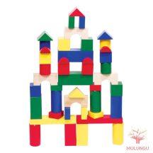 Óriás építőkocka  44db - színes 7