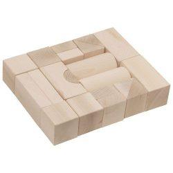 Építőkocka 20db - natúr 5 cm-es
