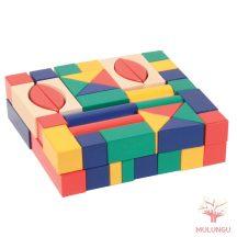 Építőkocka 60db - színes 3