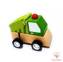 Felhúzható kisautó - kukásautó