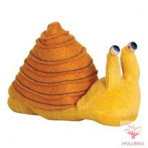Ujjbáb - sárga csiga, plüss