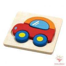 Magasított puzzle / kirakó - autó