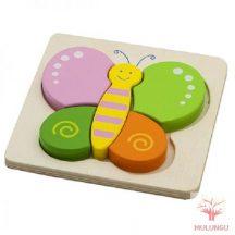 Magasított puzzle / kirakó - pillangó