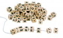 Fűzhető betűk - natúr - GKHD270