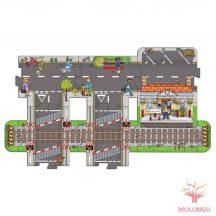 Vasútállomás játszószőnyeg-kirakó - 8 darabos - OR320