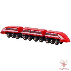 Gyorsvonat vasútkészlethez - piros