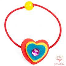 Hajgumi (piros szív)