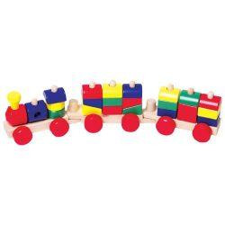 Színes építős vonat