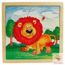 Fogantyús illesztő puzzle 4 - oroszlános