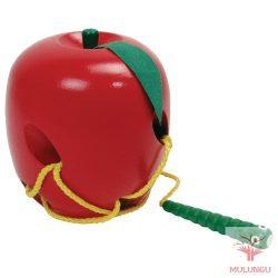 Fűzős játék- alma kukaccal
