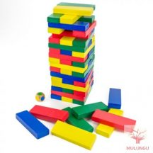 Leboruló torony (Jenga) - nagy, színes