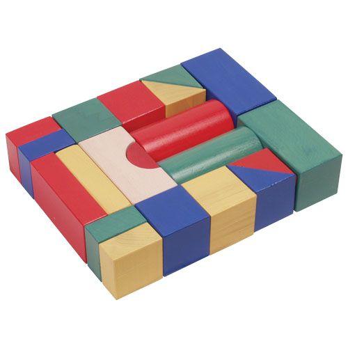 Építőkocka 20db - színes 5