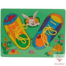 Fűzős cipők (fa lapon)