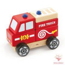 Szétszedhető - tűzoltóautó, kicsi