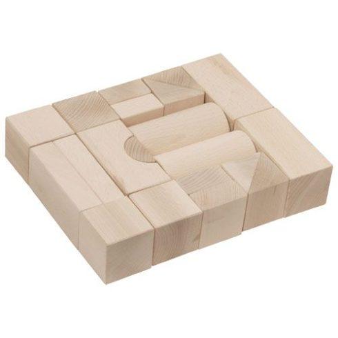 Építőkocka 20db - natúr, 5 cm-es