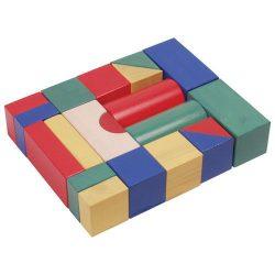 Építőkocka 20db - színes 5 cm-es