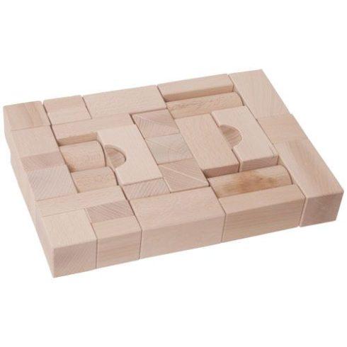 Építőkocka 35db - natúr, 4 cm-es