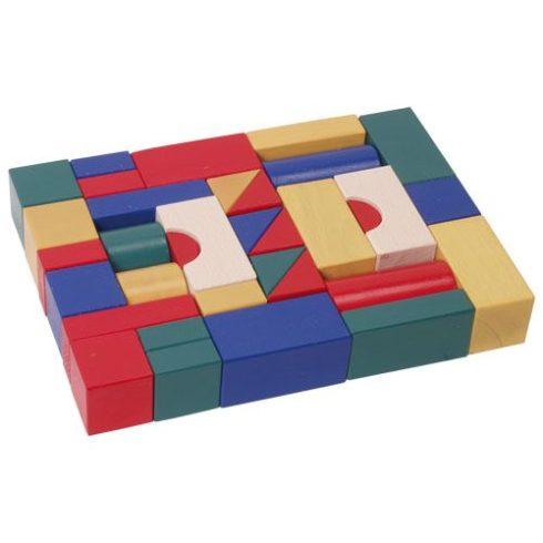 Építőkocka 35db - színes, 4 cm-es