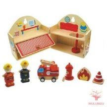 Nyitható tűzoltóállomás (tartozékokkal)