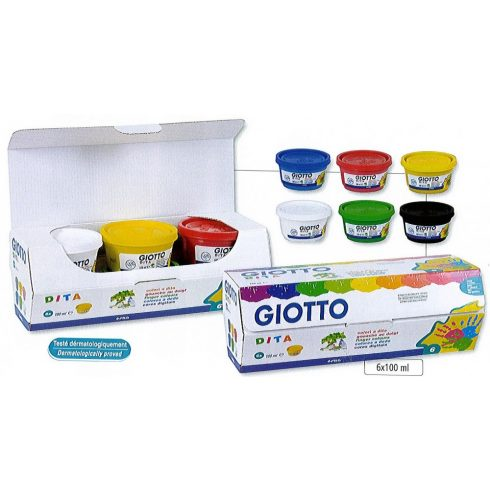 Giotto ujjfesték készlet - 6db-os