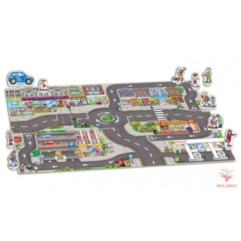 Város  játszószőnyeg-kirakó - 15 darabos - OR288