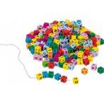 Fűzhető betűk - színes - GK58908