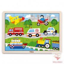Kirakó / puzzle 24db-os - járművek