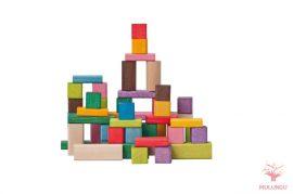 Építőkocka 50 db-os - színes pasztell