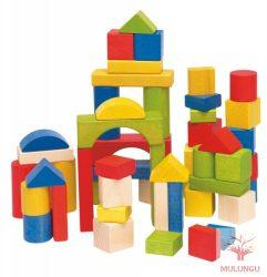 Építőkocka 50 db-os - színes