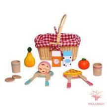 Piknikszett kosárban