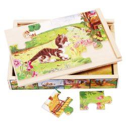4 kirakó 1-ben / puzzle, cicás