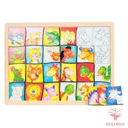 Arckereső puzzle - cicás